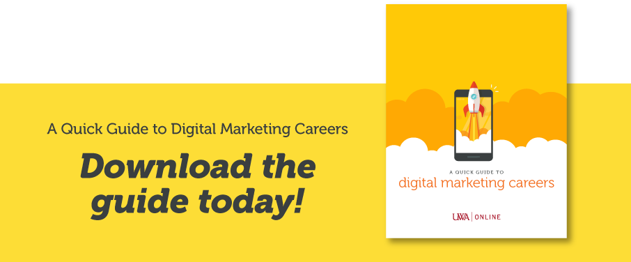 CTA image for UWA's digital marketing guide with cover preview.