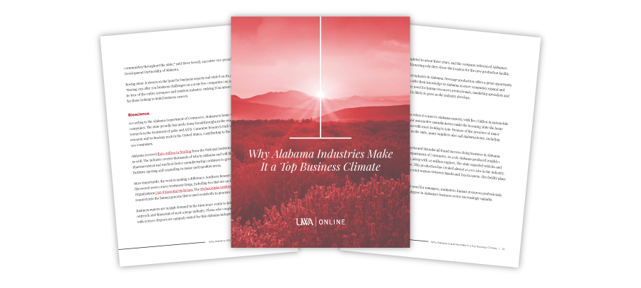 Three page preview of our Alabama Industries guide.